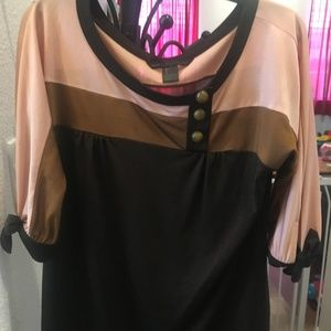 Marc by Marc Jacobs Brown Pink Shimmery Knit Top